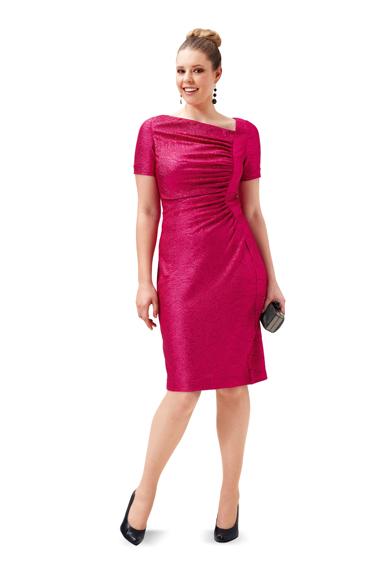 Платье с асимметричной горловиной