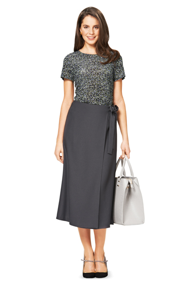 Удлиненная юбка а-силуэта