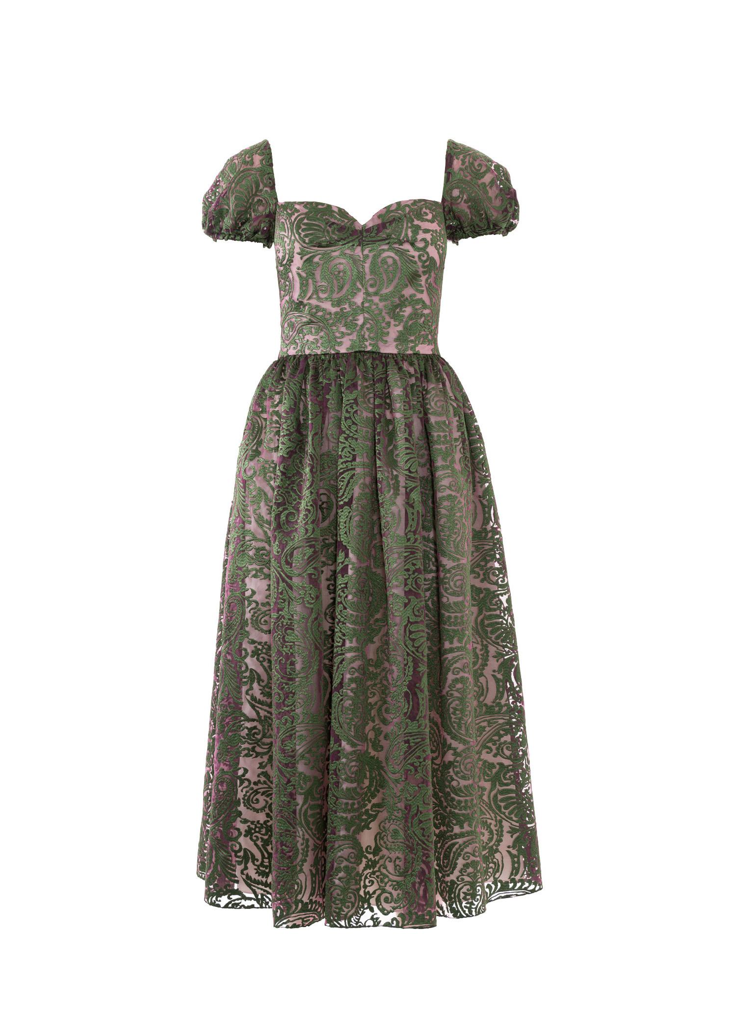 Отрезное платья с рукавами фонариками