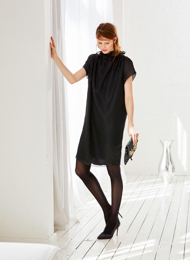 Платье с цельнокроеной стойкой выкройка