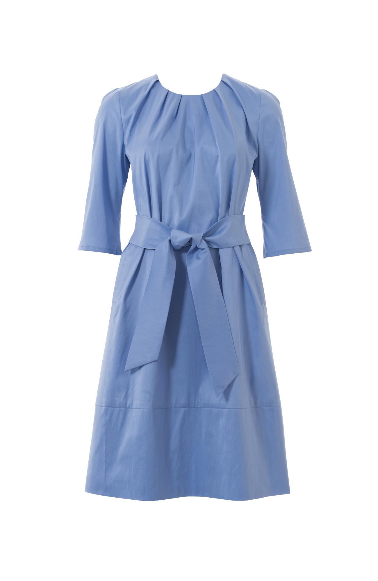 Платье со складками по горловины