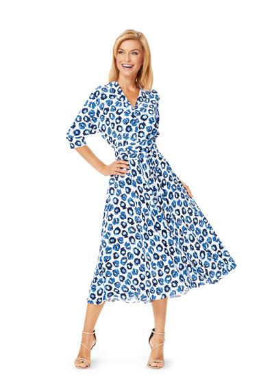 Выкройка платья-рубашки с пышной юбкой