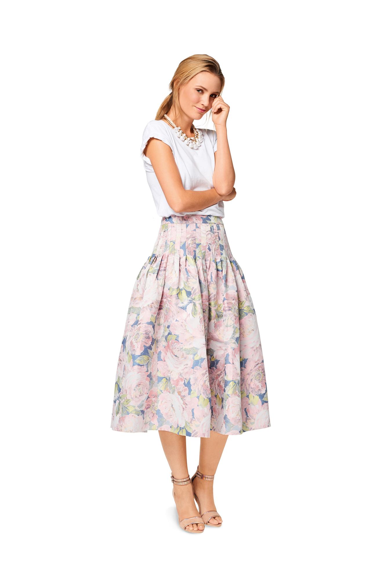 Как сшить юбку с застроченными складками