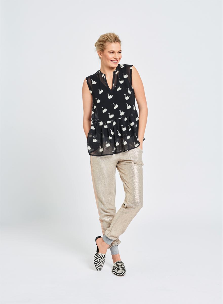 Блузка с баской бурда с доставкой