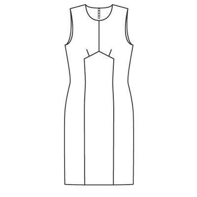 Выкроек платья в стили твигги.