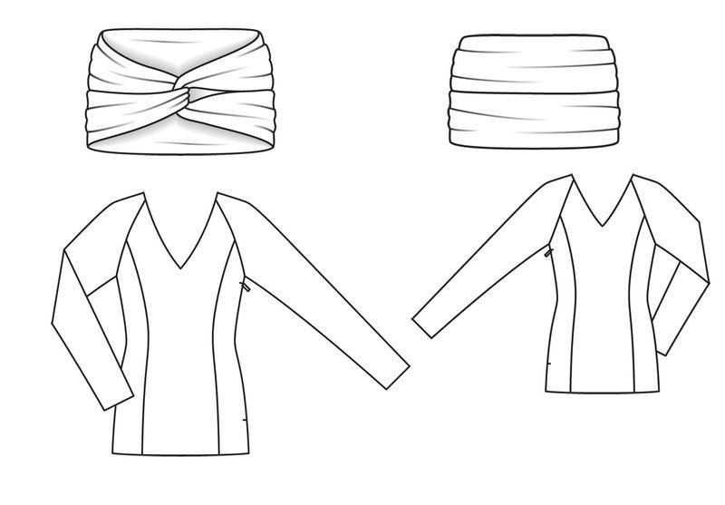 Блузки из сатина