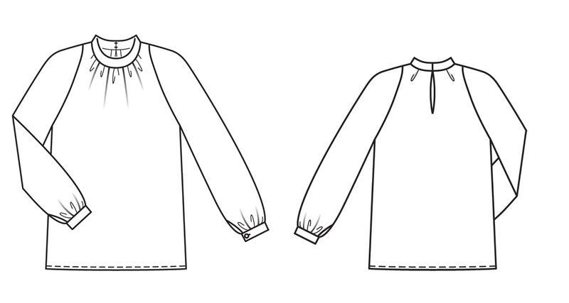 Выкройка блузок из бурды