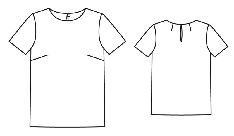 Простая блузка #1
