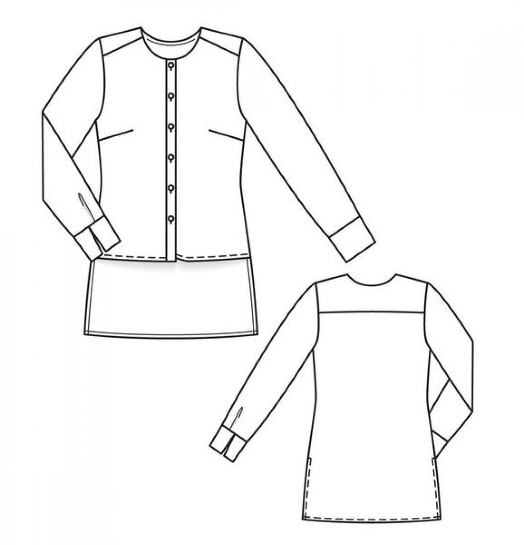 Блузка-разноуровневый низ…или операция «ликвидация»