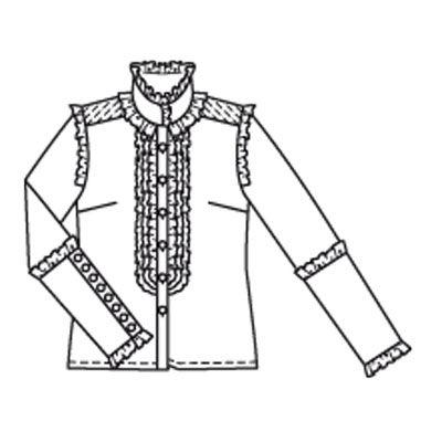 Традиционная блузка с принтом и коротким рукавом (светло-розовый в цветочек)