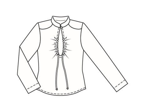 Блузки с воротником стойка