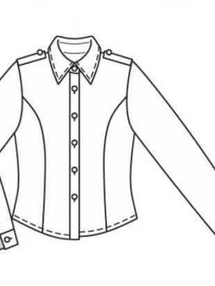 Простая рубашка выкройка