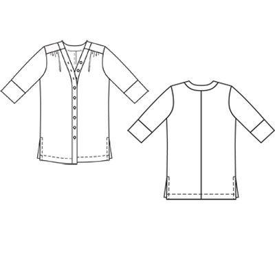 Выкройка к данной модели отсутствует. Сложность. Женский. То, что надо для приключений: блуза... Burda 6/2011