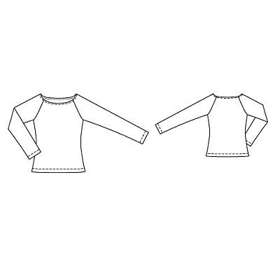 Пуловер с воротником лодочка