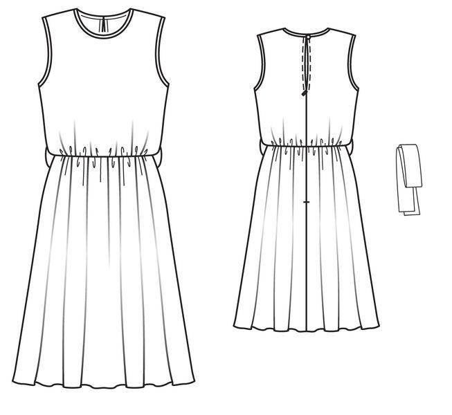 Выкройки летних платьев из шифона своими руками