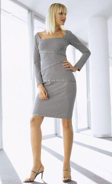 Экстравагантное трикотажное платье с. Burda 2/ 2004