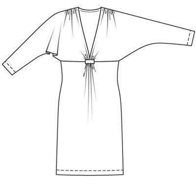 Описание: b Выкройка платья с рукавом летучая мышь - Кройка и шитье с Сергеем. платье на девочку стиль рукава на одно