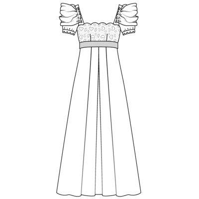 Стиль ампир платья выкройка