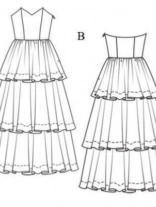 Платье каскад выкройки