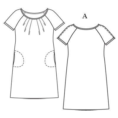 Платье реглан с коротким рукавом выкройка