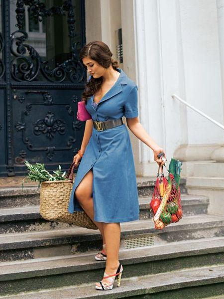 Фасон джинсового платья фото