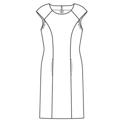 выкройка платье футляр, как сшить