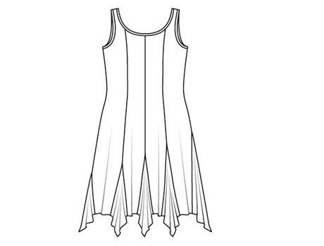 27 мар 2015 Молодежное платье - Новые выкройки платьев для полных Платье с завышенной талией (бесплатная выкройка
