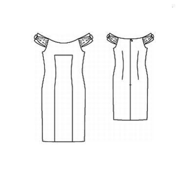 Выкройка облегающего  с открытыми плечами