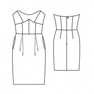 Пестрое трикотажное платье