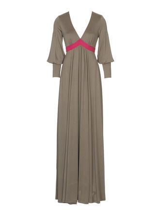Коллекция. Модная гамма. Длинное платье из шелкового трикотажа... Выкройка