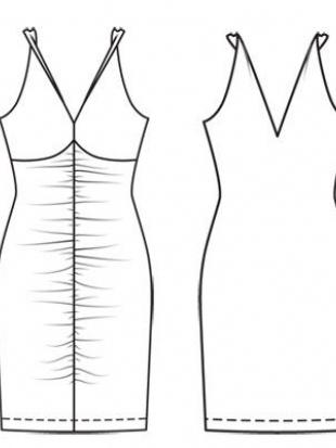 Выкройка к данной модели отсутствует. Облегающее летнее платье из... Сложность. Женский