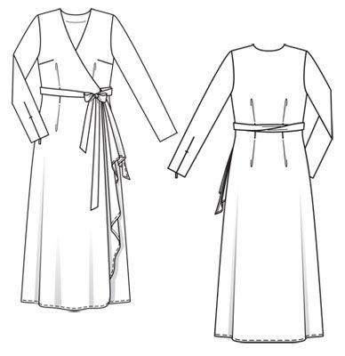 Выкройка бурда платье халат