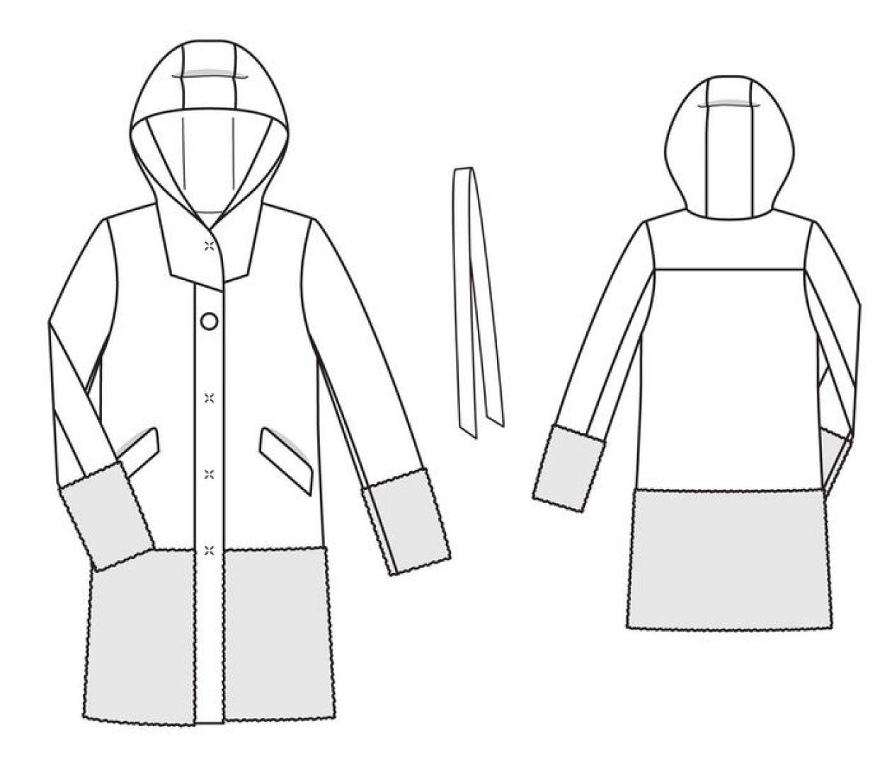 Пальто для подруги…в полосочку)
