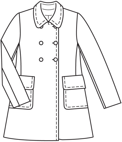 Женский журнал пальто выкройка