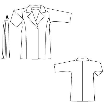 Пальто-реглан на основе цельнокроеного рукава