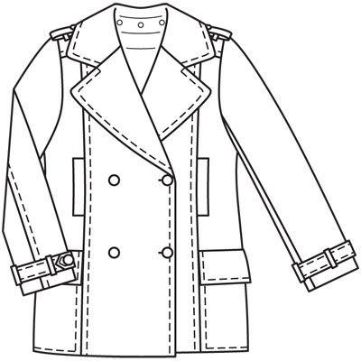 Выкройки пальто бушлат