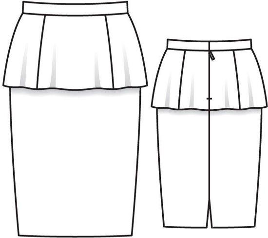 Рисуем юбки карандашом