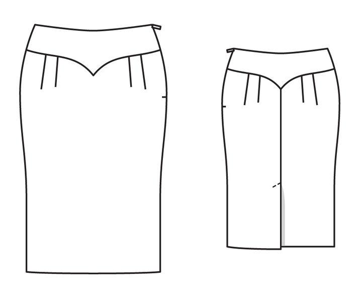 Жаккардовая юбка для полных!)