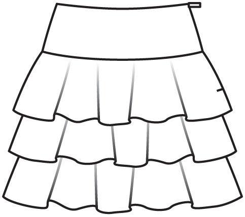 Крой юбки воланом