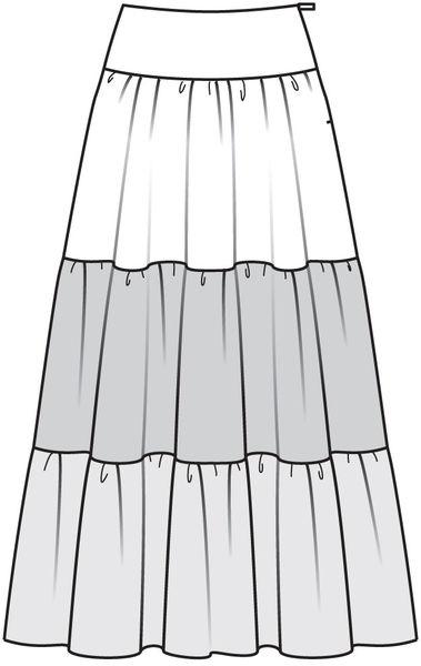 чертеж юбки хиппи: