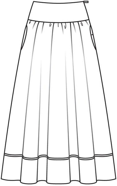 Выкройка юбки-макси