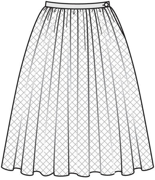 выкройка для пышной юбки: