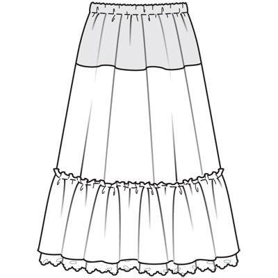 юбка выкройка для полных