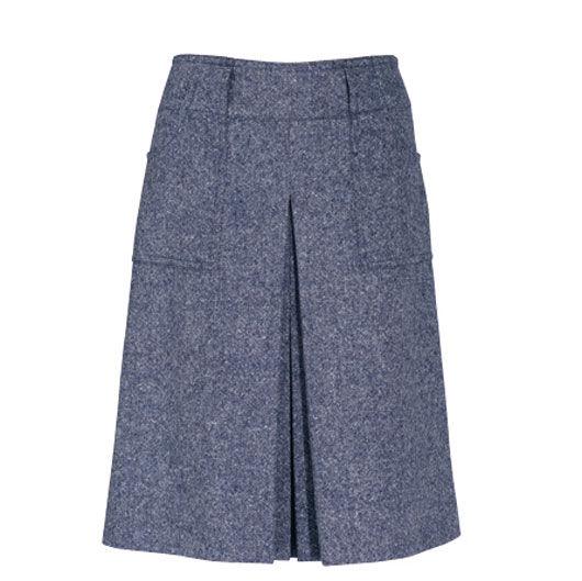 Выкройка юбки впереди со складками
