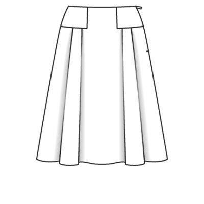 Длинная нарисованная юбка