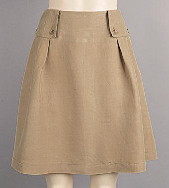 Выкройка юбка сафари