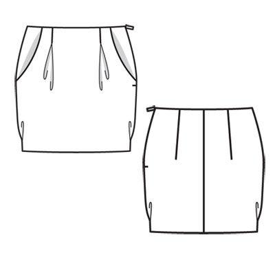 Выкройки юбок бесплатно тюльпаны