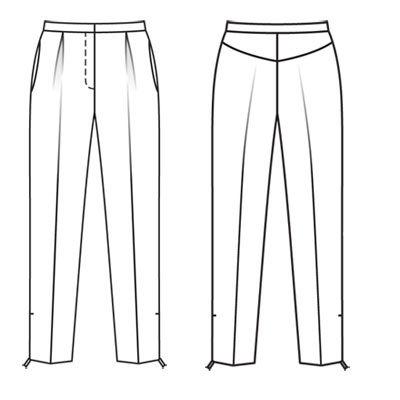 Как нарисовать штаны