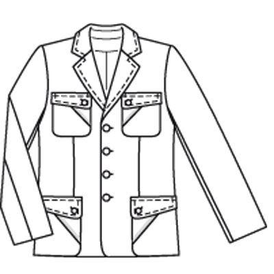Выкройка к данной модели отсутствует. Удлиненный и слегка приталенный пиджак очень идет... Сложность