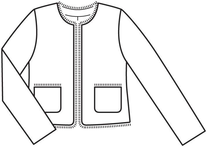 Выкройка пиджака шанель